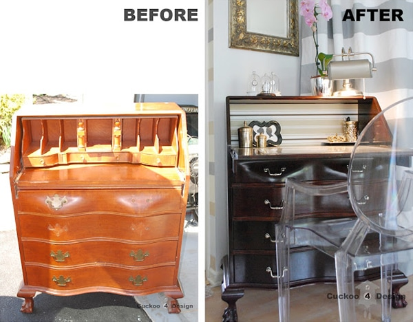 before and after secretary desk