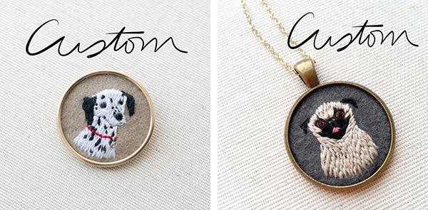 custom stiched pet portraits