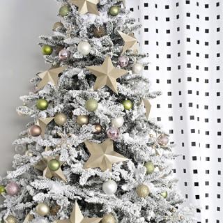 flocked Christmas tree - Cuckoo4Design
