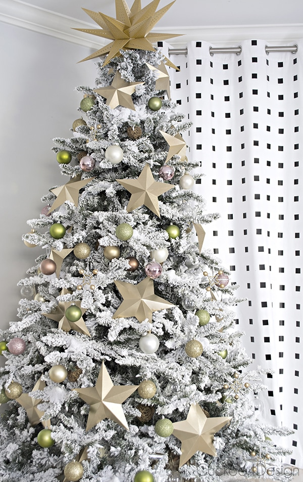 flocked Christmas tree - Cuckoo4Design
