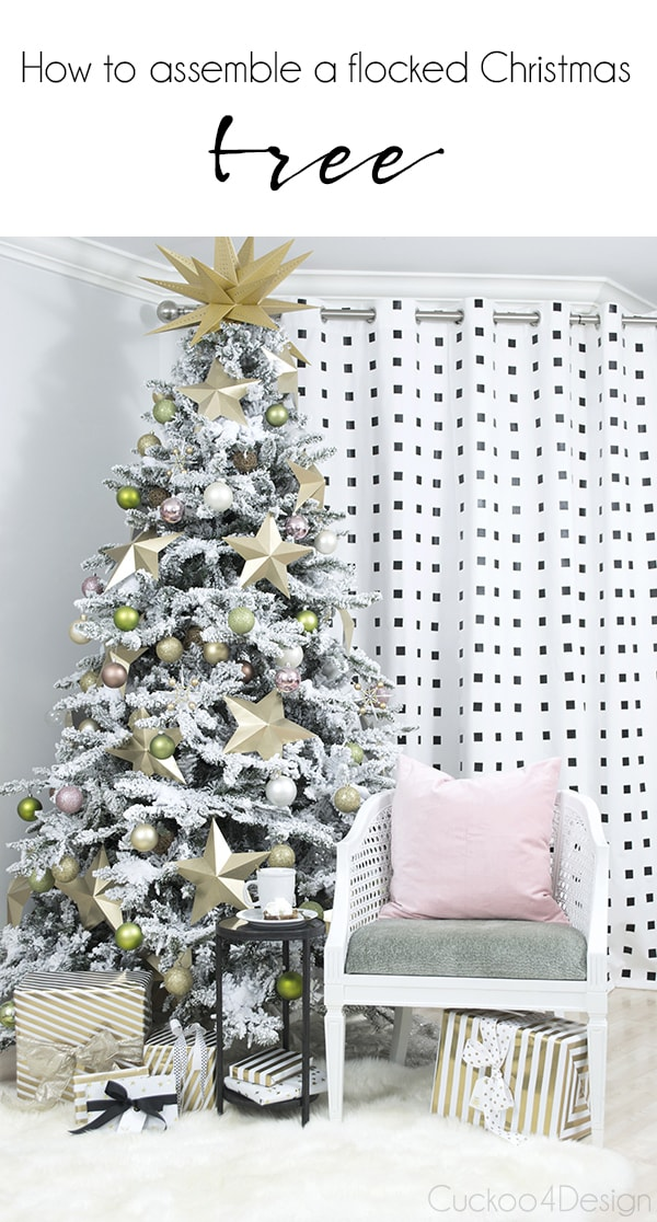 How to assemble a faux Christmas tree