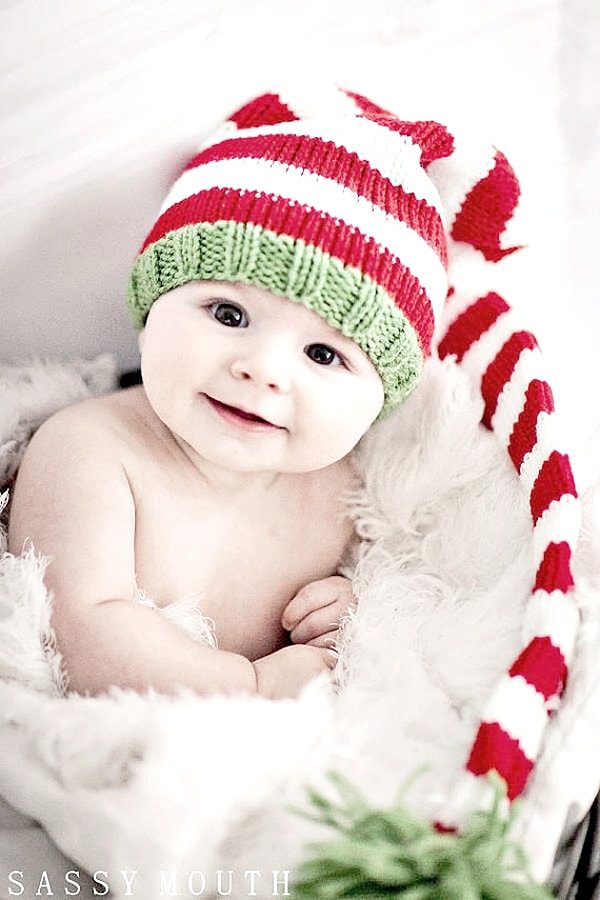 Knitted_long_baby_hat