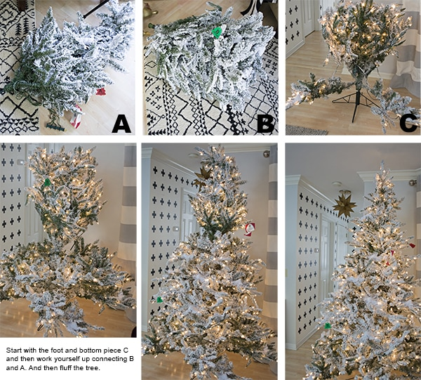 How to assemble flocked Christmas tree - Cuckoo4Design