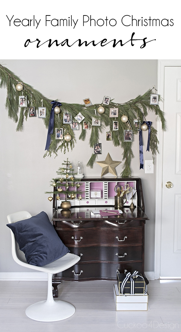 meaningful christmas decor with framed family photos