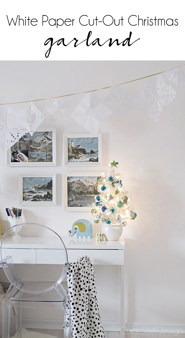 meaningful Christmas decor: kids paper cut-out garland