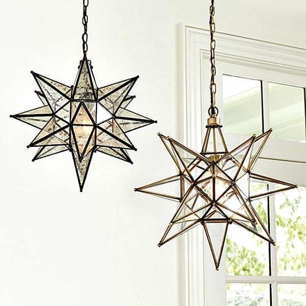 Brass Moravian Star Pendant