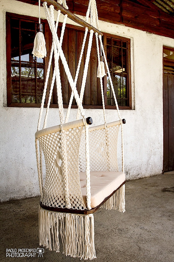 handmade macrame chair