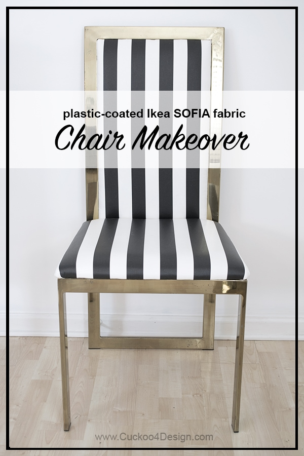 plastic coated Ikea Sofia fabric brass chair covers