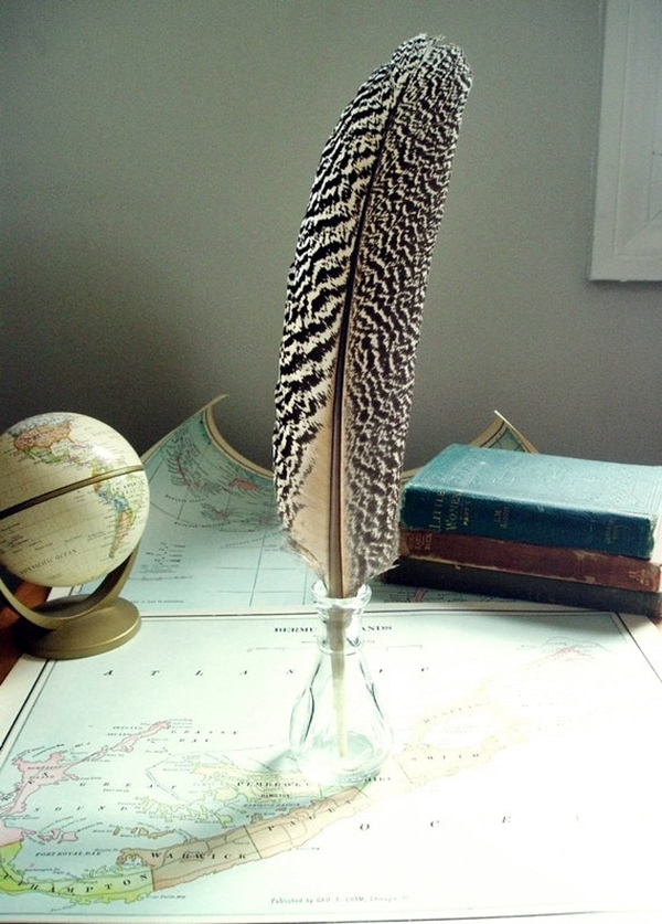 handmade feather quill