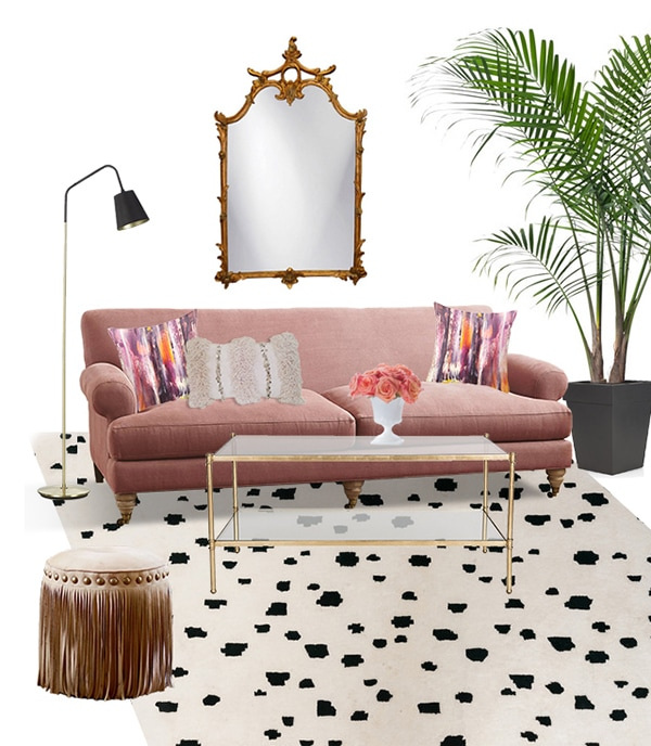 rose quartz living room decor idea - Cuckoo4Design