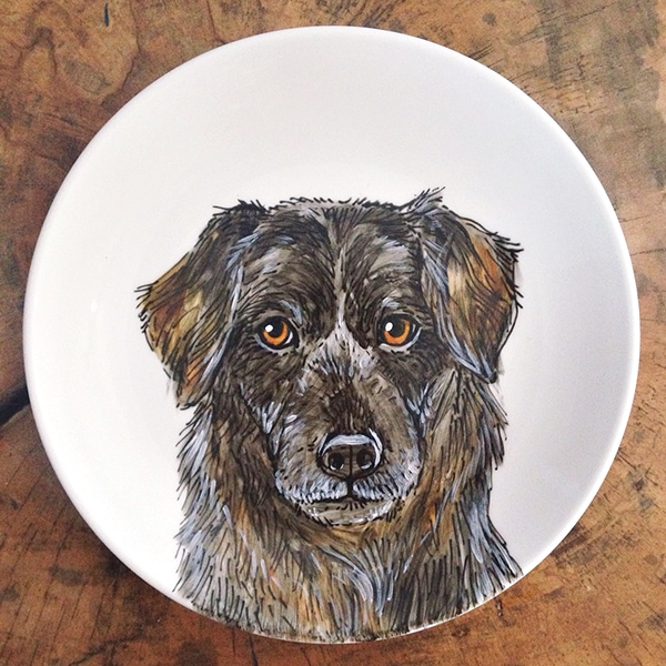 custom dog plate