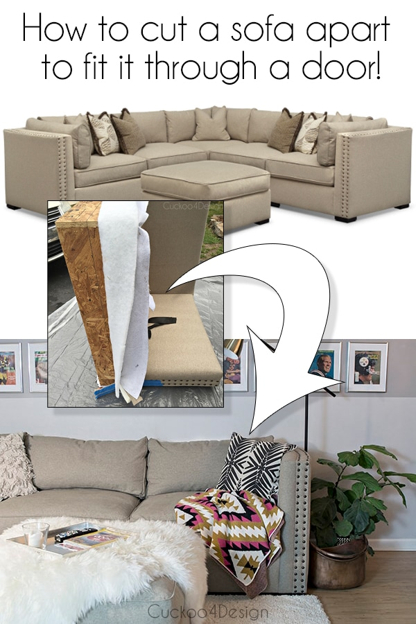 how to dismantle sofa to fit through door