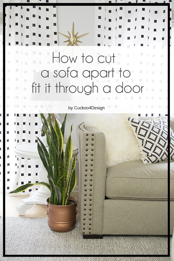 How to make a sofa fit through a door by cutting taking it apart