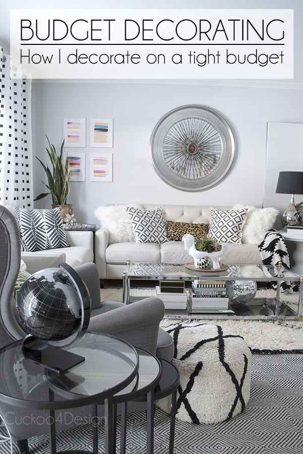 How to decorate on a very tight budget