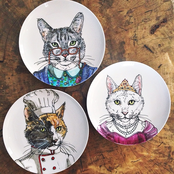 custom cat plates