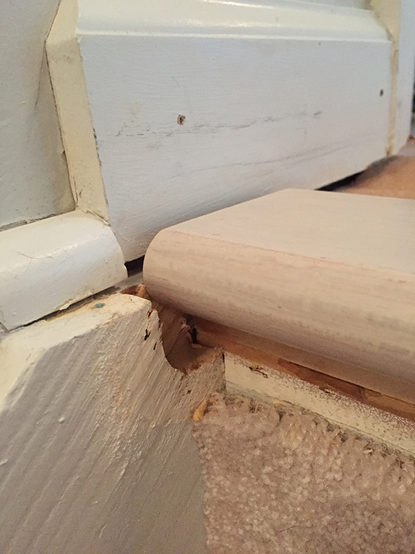 gaps in stair treads after removing carpet