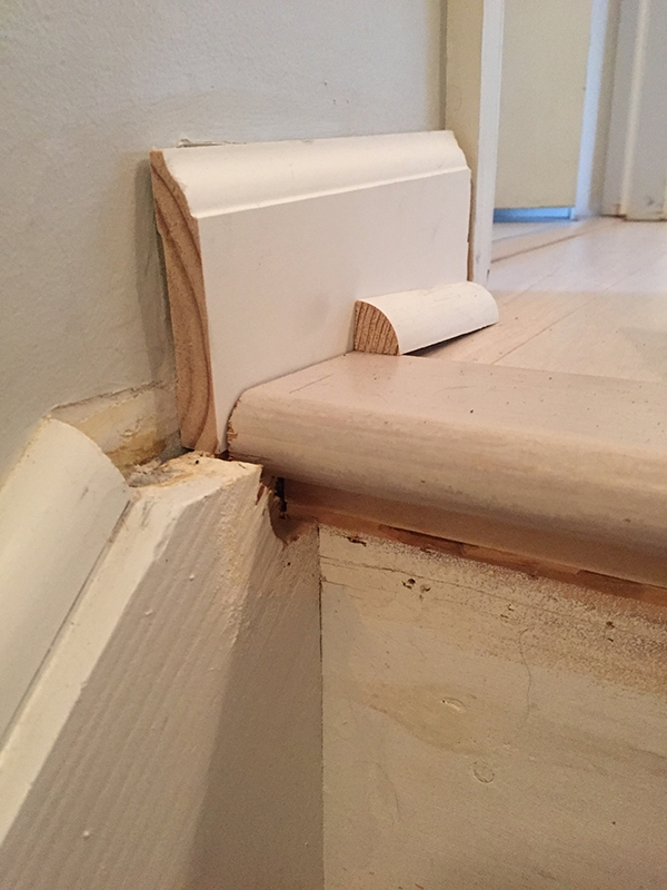 figuring out how to fix gaps in stair treads