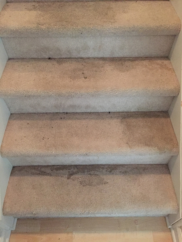How to remove dirty carpet from stairs