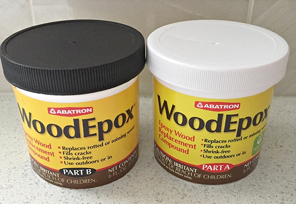wood epoxy for patching gaps in stair treads
