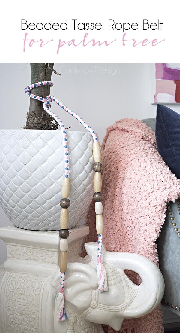 DIY rope belt palm tree embellishment - Cuckoo4Design