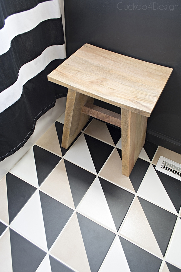 How to modernize plain checkerboard floor - Cuckoo4Design