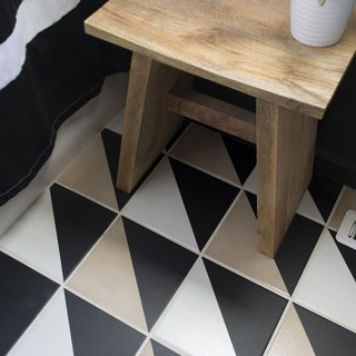 How to update plain checkerboard floor - Cuckoo4Design