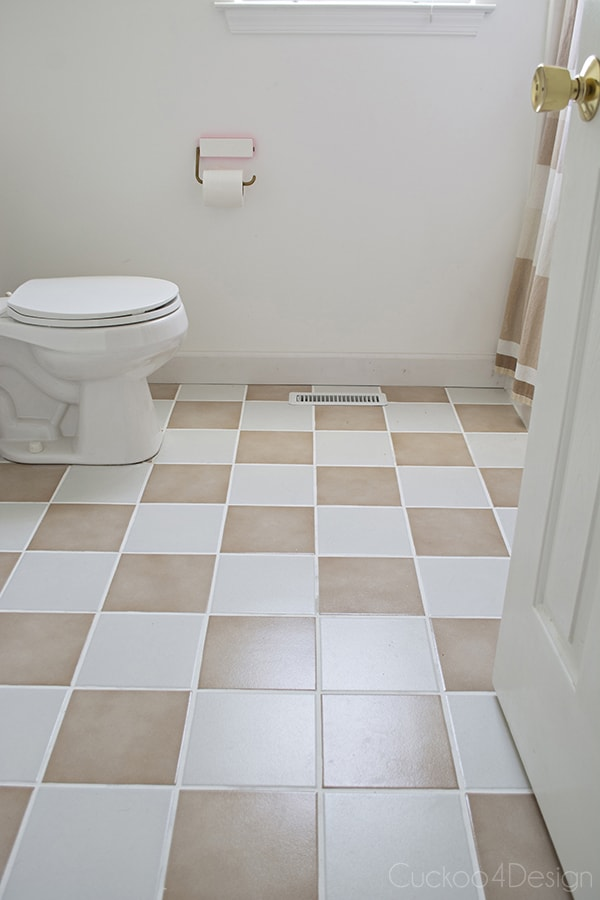 How to update plain tan tile flooring - Cuckoo4Design