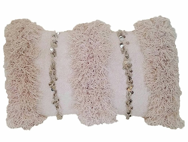 soft pink Moroccan Wedding Blanket pillow