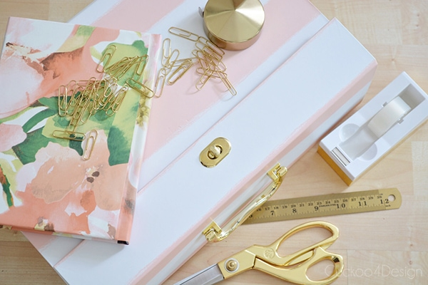 blush and pink floral and gold office supplies - Cuckoo4Design