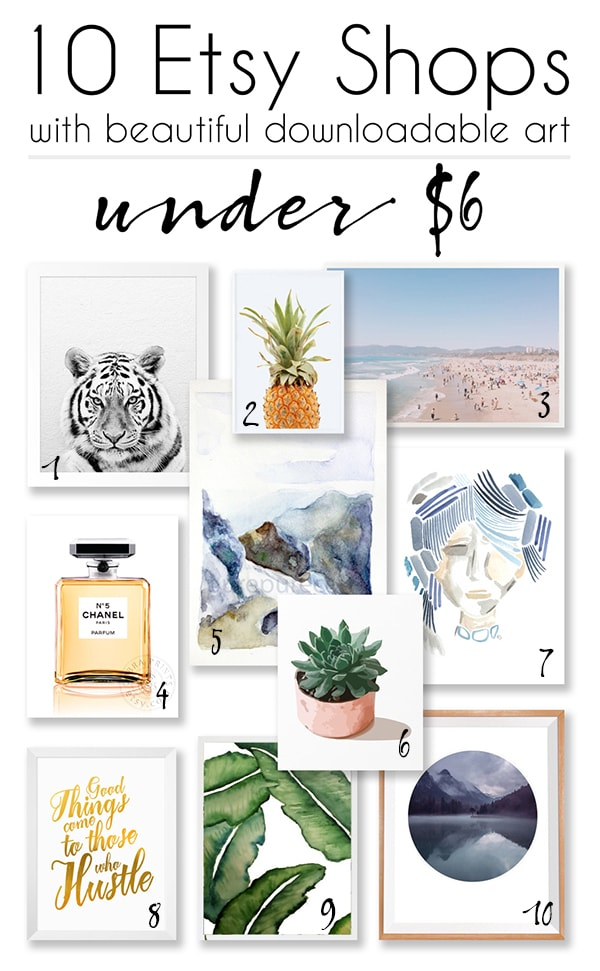 10 Etsy shops with great downloadable art prints for under $6