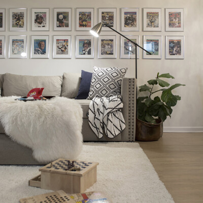 Basement Man Cave with Sports Illustrated Collection - Cuckoo4Design