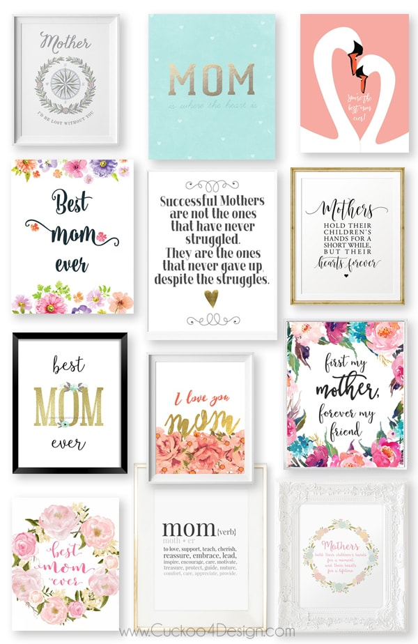 Last Minute Gift Idea: Mothers Day Printables for under $5