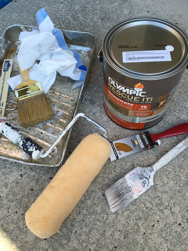 supplies needed for painted concrete front porch