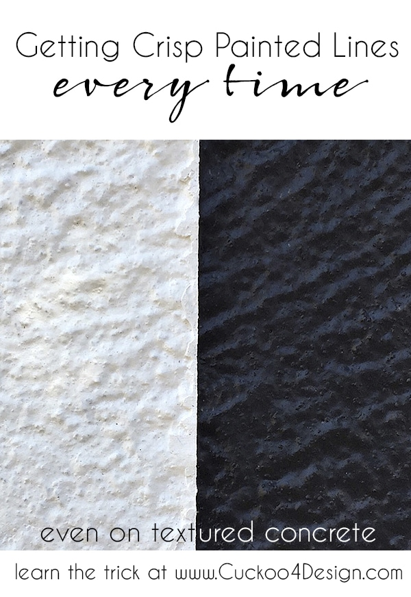 How to get crips painted lines every single time and even on textured concrete