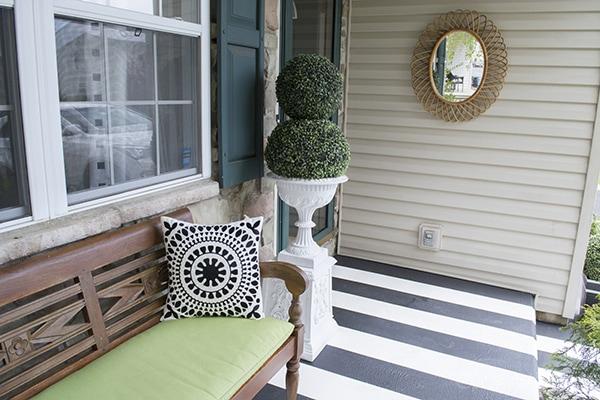 adding a mirror to your porch