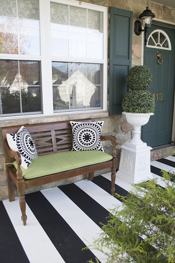 Learn How to Paint Stripes on Your Front Porch