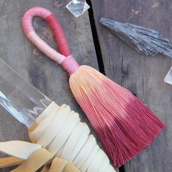 handmade ombre tassel