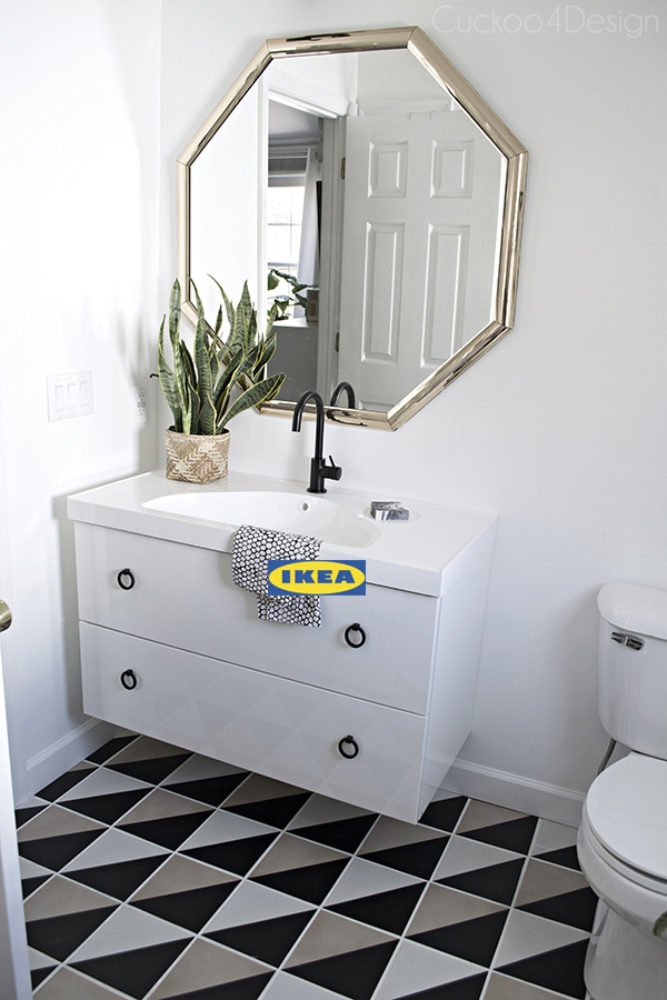 Ikea decorating ideas using bathroom vanity