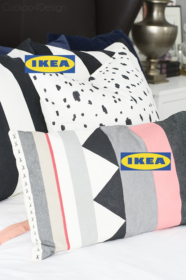 DIY painted Ikea pillows