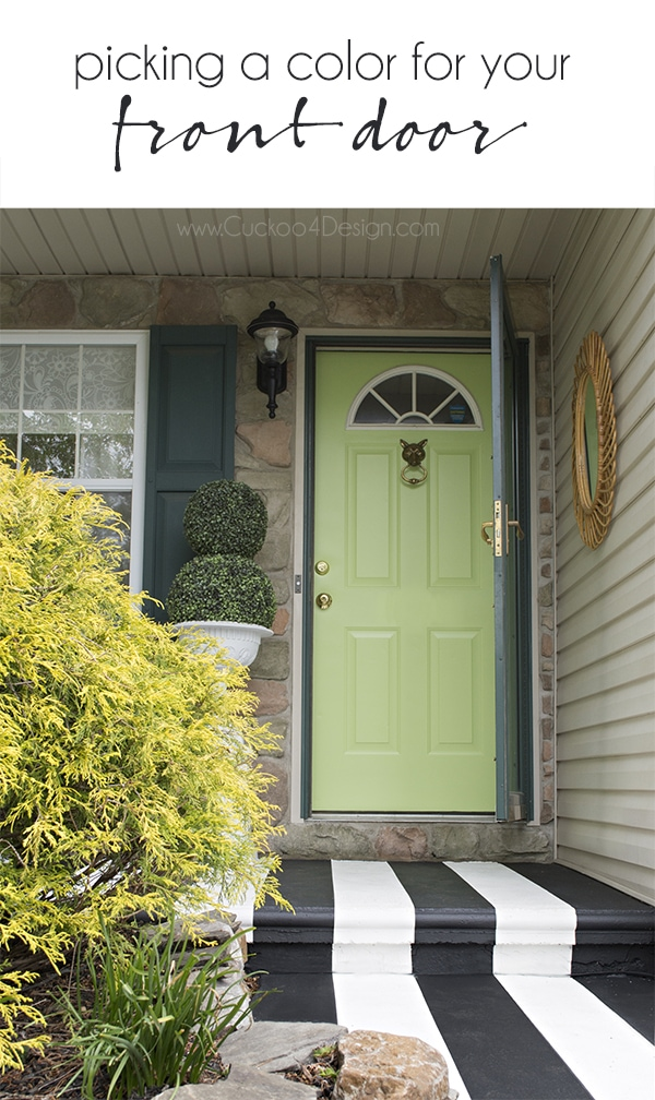 picking a color for your front door