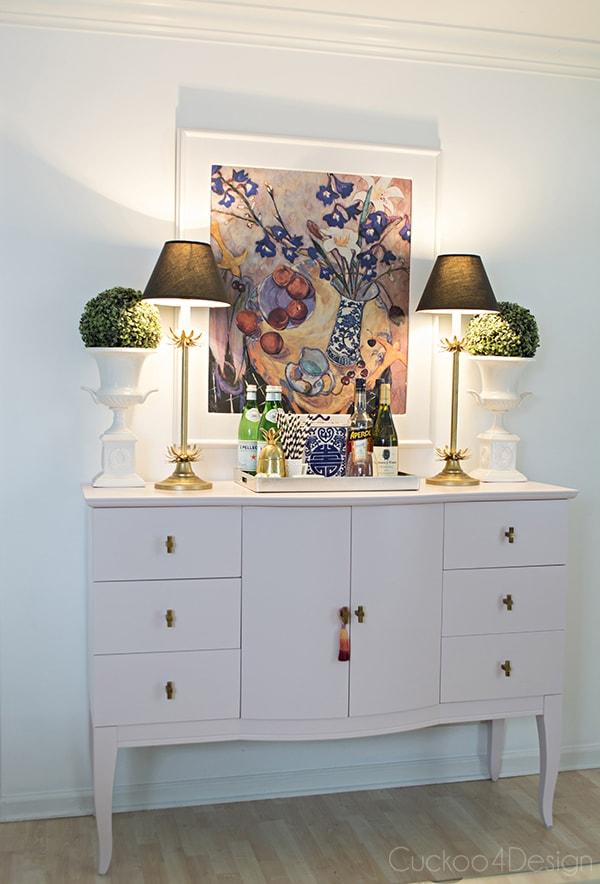 Quartz_pink_dresser_makeover_with_modern_gold_hardware