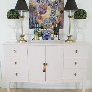 Quartz Pink dresser makeover: before and after - Cuckoo4Design