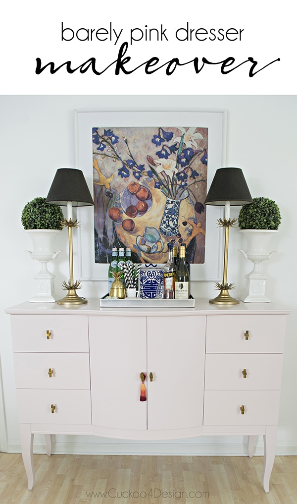 Quartz_pink_dresser_makeover_with_modern_gold_hardware_10_Cuckoo4Design