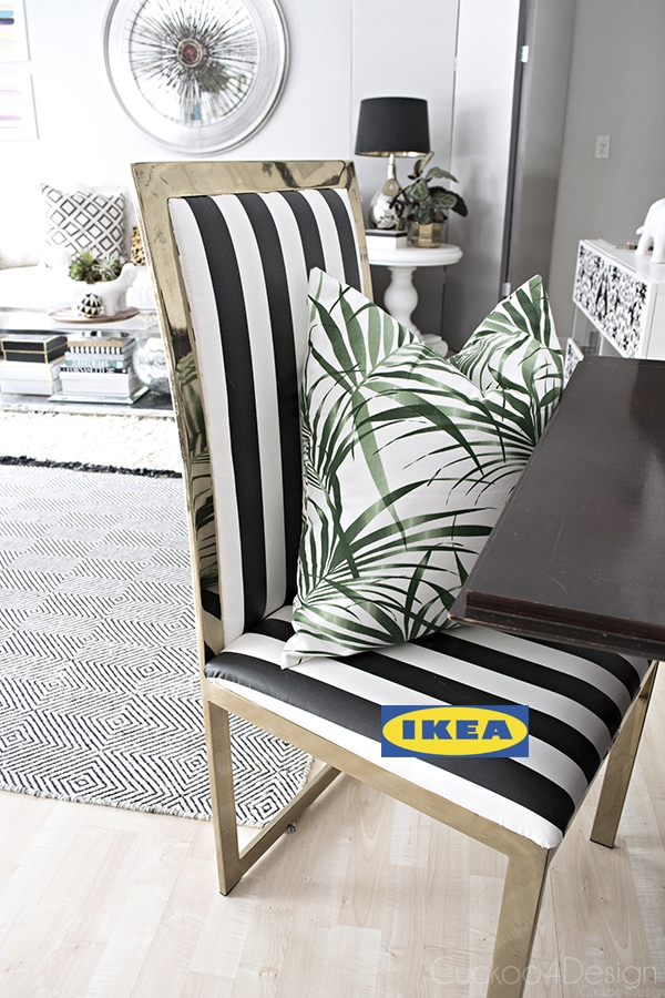 Ikea decorating ideas using washable fabric