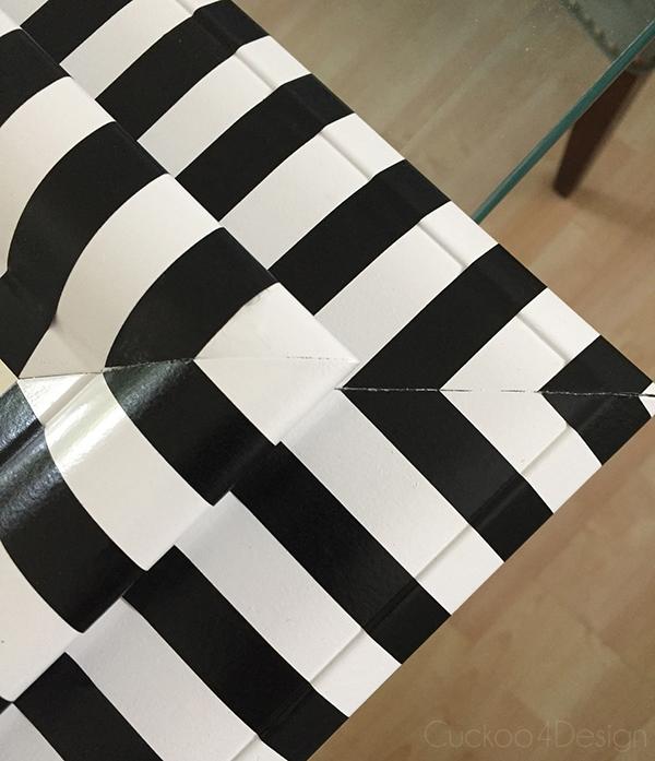 black and white striped mirror makeover cuckoo4design. Black Bedroom Furniture Sets. Home Design Ideas