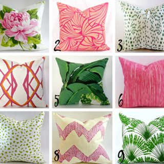 summer pattern mix and match designer pillows from Etsy