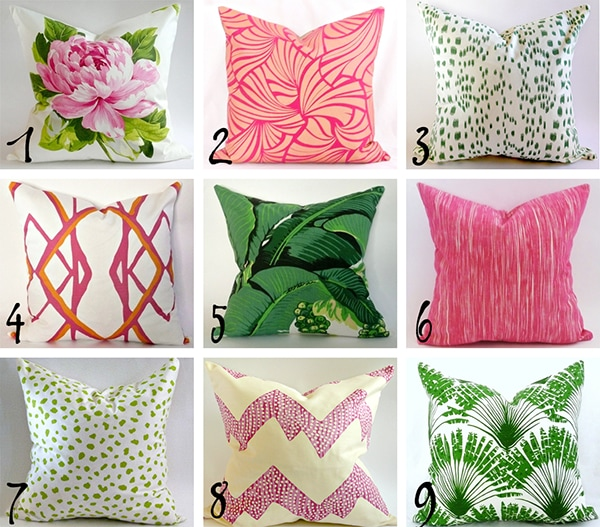 Friday Etsy Favorites – Summer Mix and Match Pillows