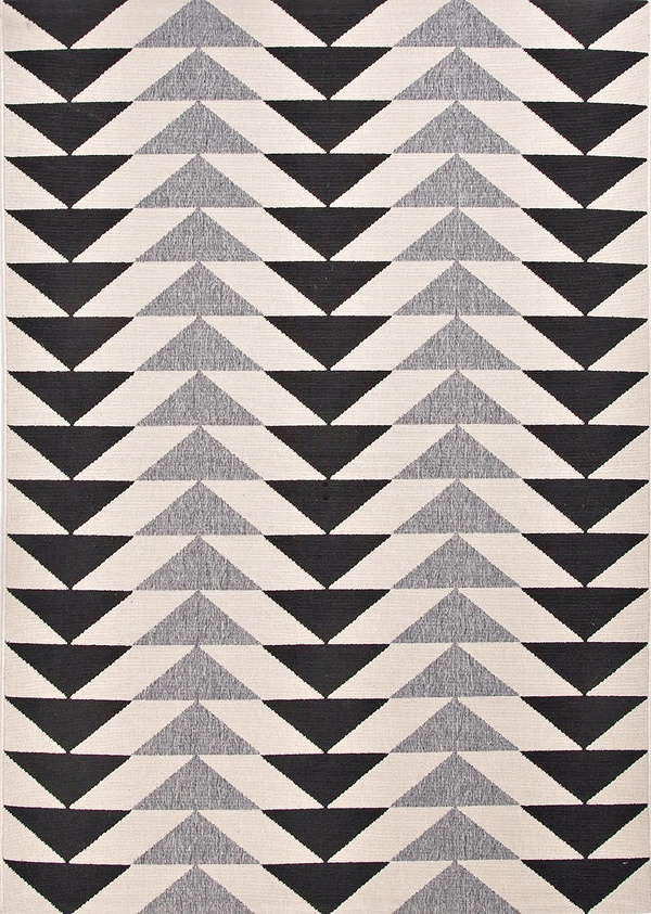 black_and_white_and_gray_triangle_tribal_rug