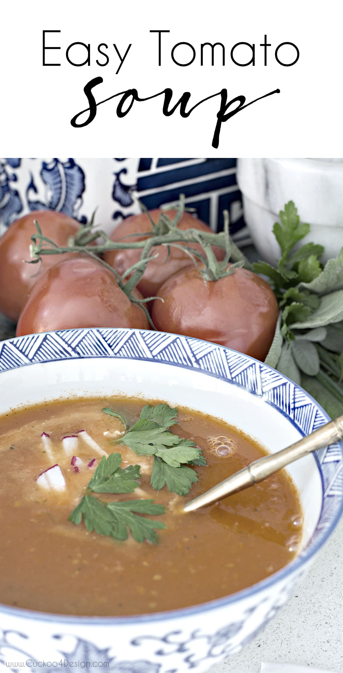 easy fall tomatoes soup