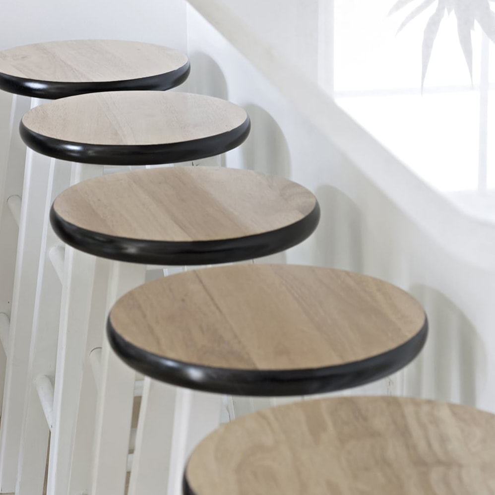 black and white counter stool makeover